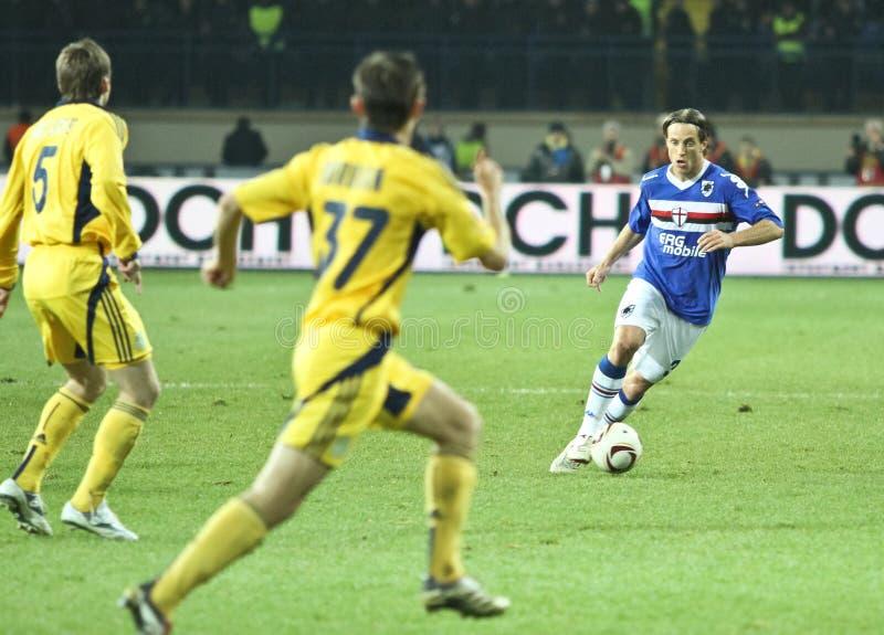df Γένοβα sampdoria reto ziegler στοκ φωτογραφία