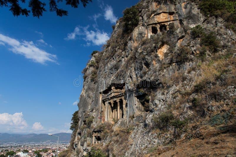 Aminthas antic city. In fethiye, turkey stock image