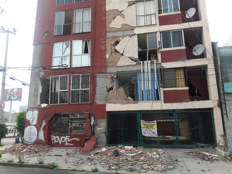 Df México Μεξικό Richter σεισμού κλίμακα στοκ φωτογραφίες