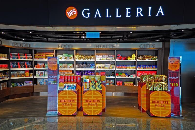 DFS Galleria αφορολόγητη έξοδος Χογκ Κογκ στοκ εικόνα με δικαίωμα ελεύθερης χρήσης