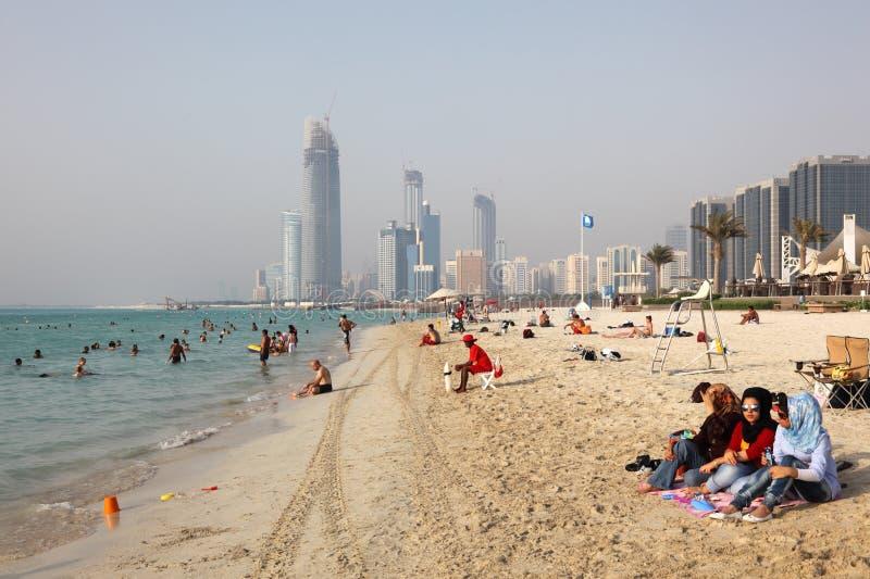 dhabi пляжа abu стоковая фотография
