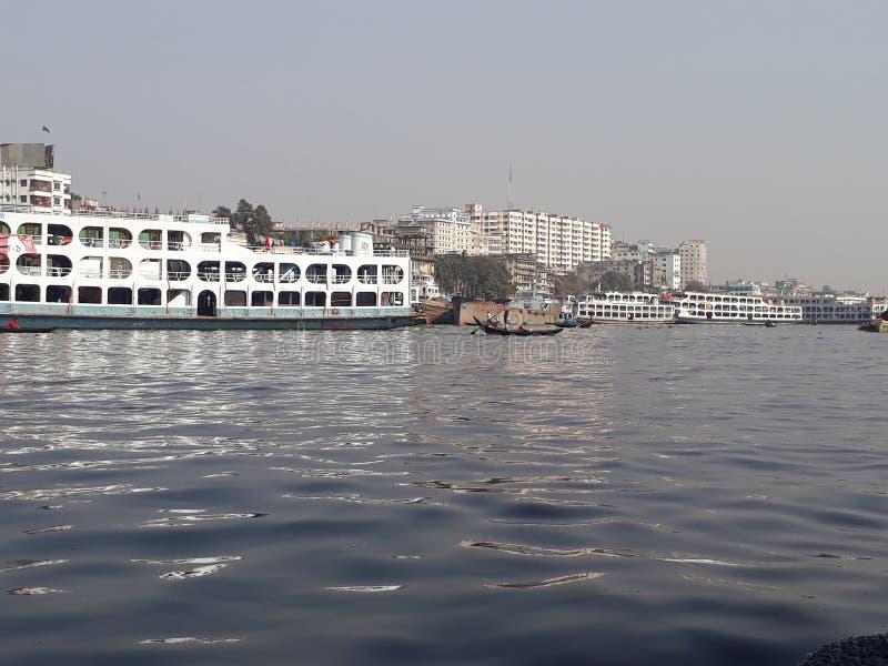 Dhaka, ποταμός Borigong στοκ εικόνα με δικαίωμα ελεύθερης χρήσης