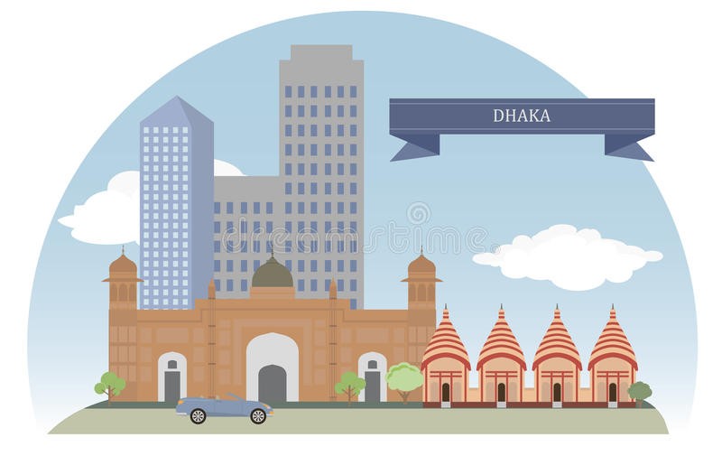 Dhaka Bangladesh stock illustrationer