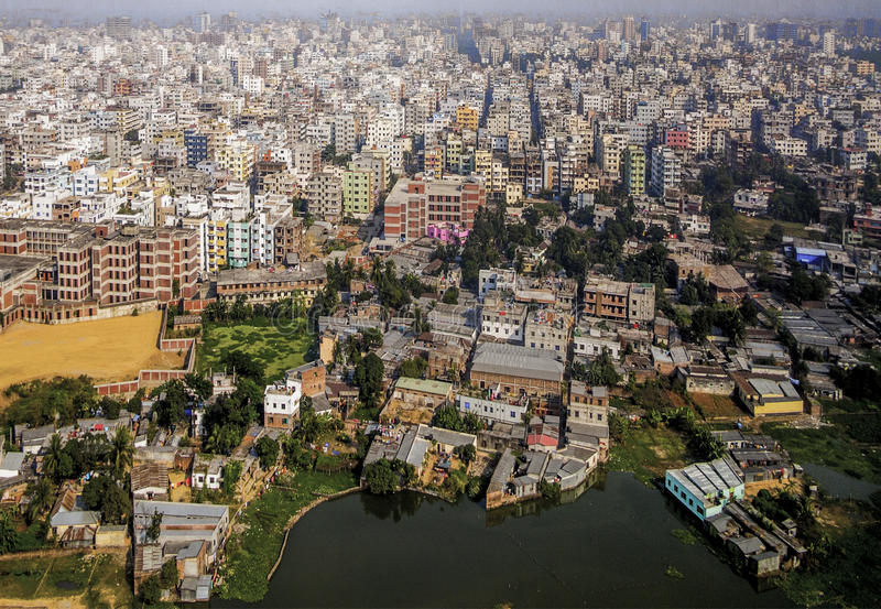 Dhaka, Bangladesh. Area of Dhaka, the Capital of Bangladesh stock image