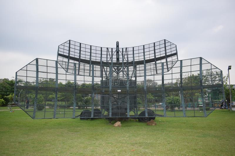 Dhaka, Bangladesh,- march, 26, 2019 : a radar in biman museum. Dhaka bangladesh- march 26 2019 radar biman museum royalty free stock images