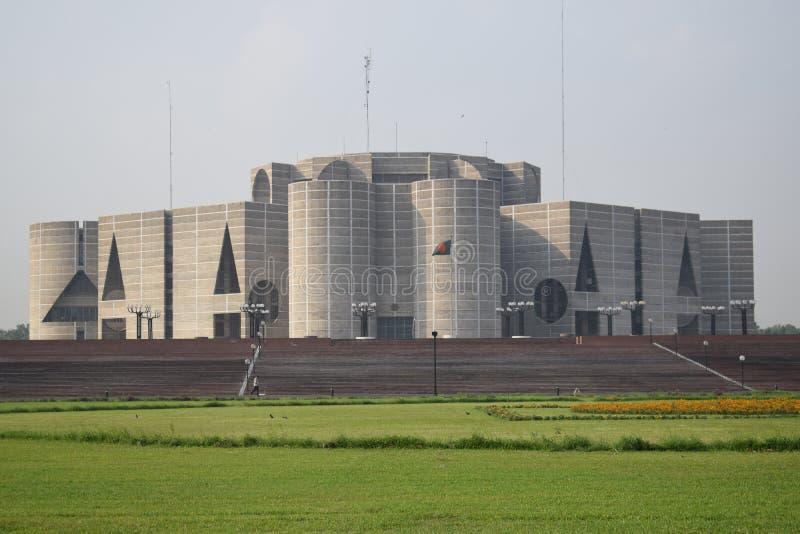 Dhaka, Bangladesh, - 27 januari, 2019: Het nationale Parlement Huis, royalty-vrije stock afbeelding