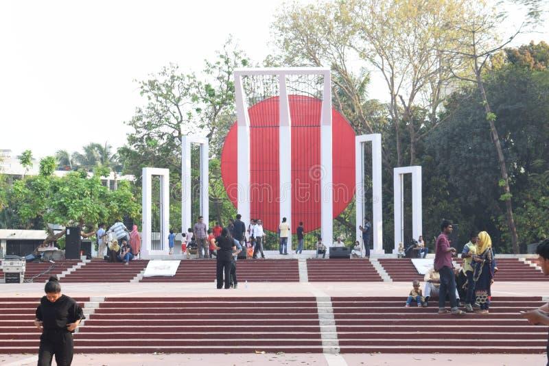Dhaka, Bangladesh, - 17 maart, 2019: centraal martelaarmonument stock fotografie
