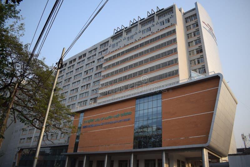 Dhaka, Bangladesh, - outubro, 21, 2018: Queimadura nacional de Sheikh Hasina e instituto da cirurgia plástica fotos de stock