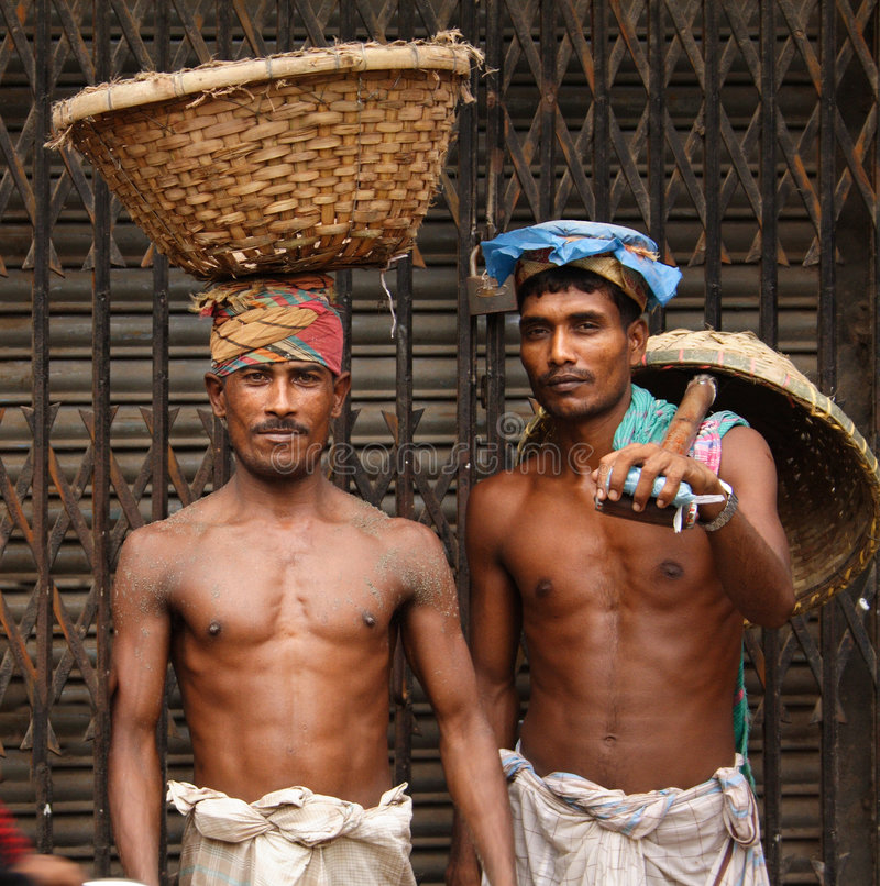 dhaka gammala arbetare royaltyfri foto