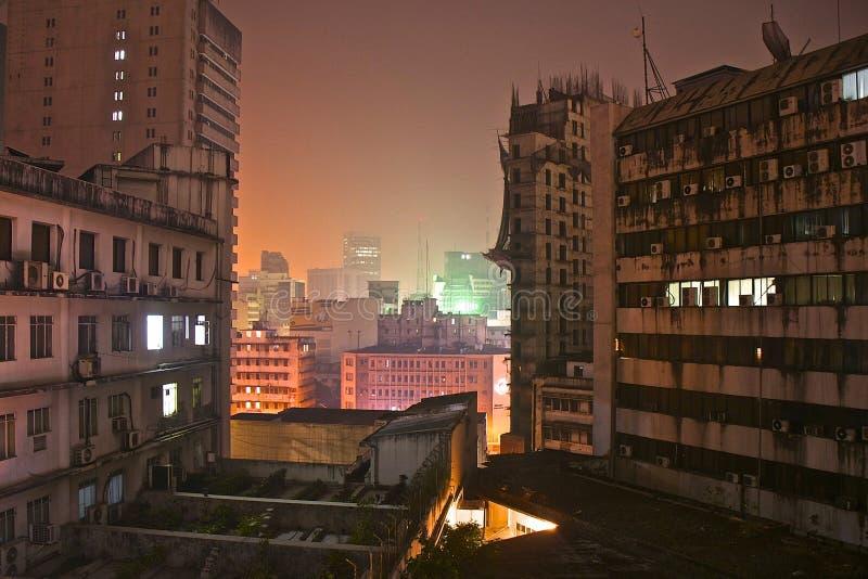 Dhaka by night. Night view over Dhaka, Bangladesh stock photography