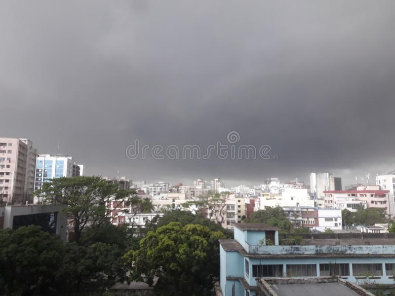 Dhaka stad royaltyfri bild
