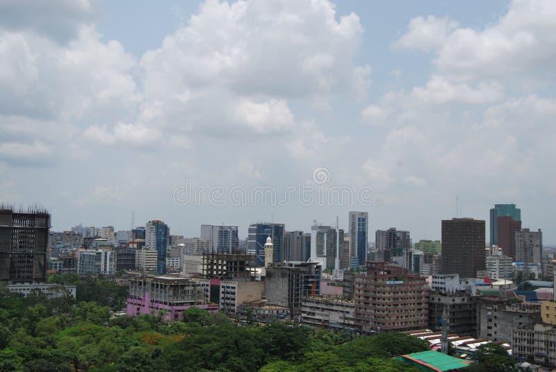 Dhaka stadshorisont royaltyfria foton