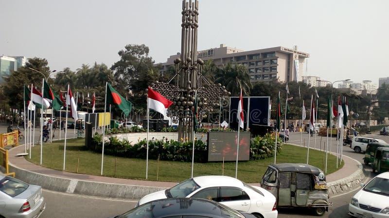 Dhaka-Stadt stockfotografie
