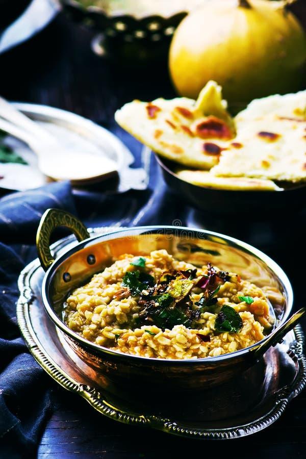 Dhal con la zucca Cucina indiana fotografia stock libera da diritti