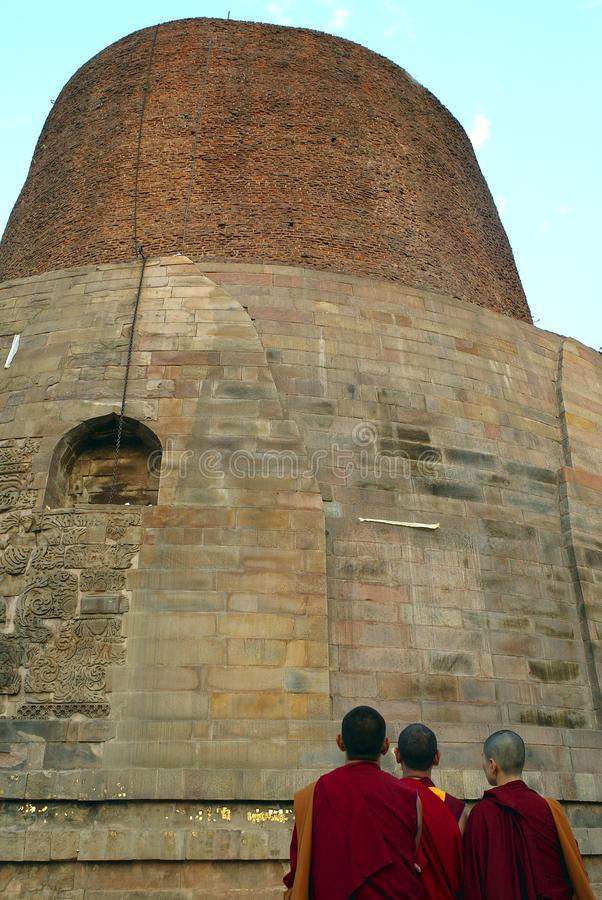The Dhamekh Stupa, Sarnath royalty free stock photos