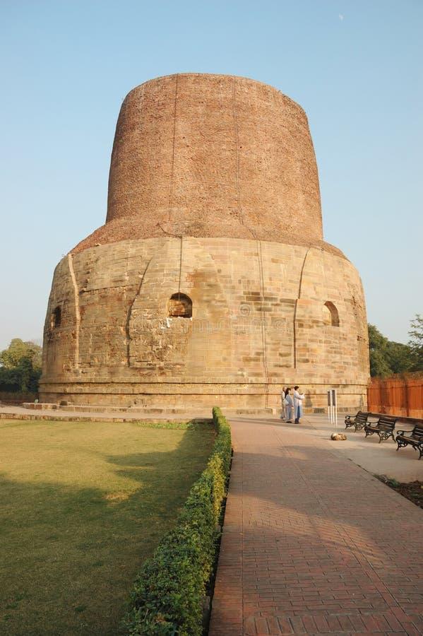 Dhamekh stupa in Sarnath,India,Uttar Pradesh royalty free stock photos
