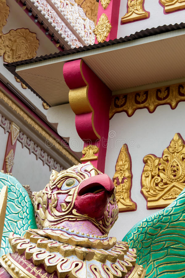 Dhamikarama Burmese Temple in Penang, Malaysia. Detail from Dhamikarama Burmese Temple in Penang royalty free stock photos