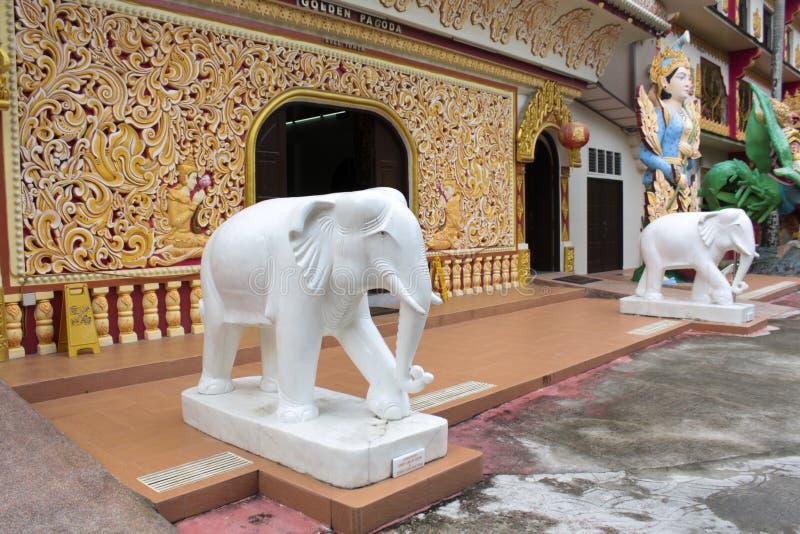 Dhamikarama Burmese Temple in Penang, Malaysia stock photography