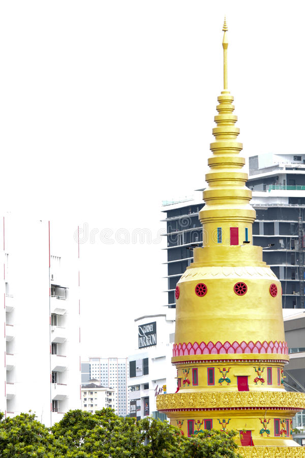 Dhamikarama Burmese Temple in Penang, Malaysia. Detail from Dhamikarama Burmese Temple in Penang, Malaysia royalty free stock images