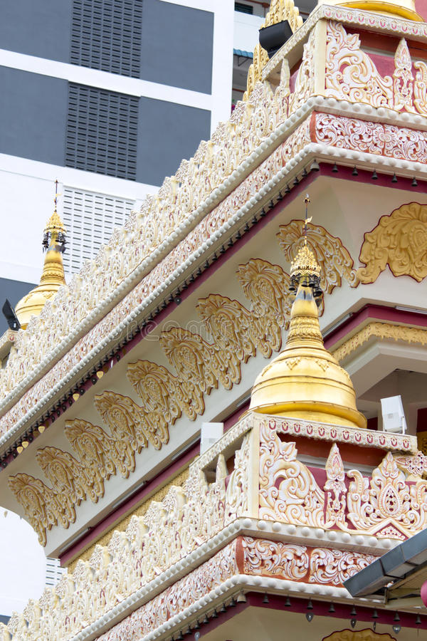 Dhamikarama Burmese Temple in Penang, Malaysia stock photo
