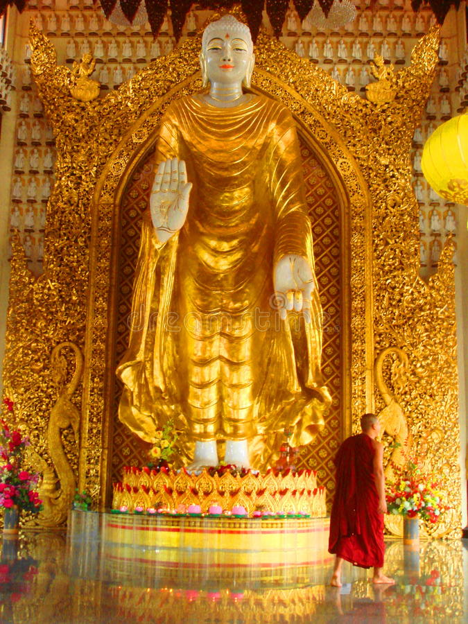 Dhamikarama Burmese Temple in Penang, Malaysia stock image