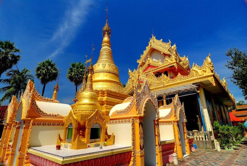 Dhamikarama Burmese Temple royalty free stock photo