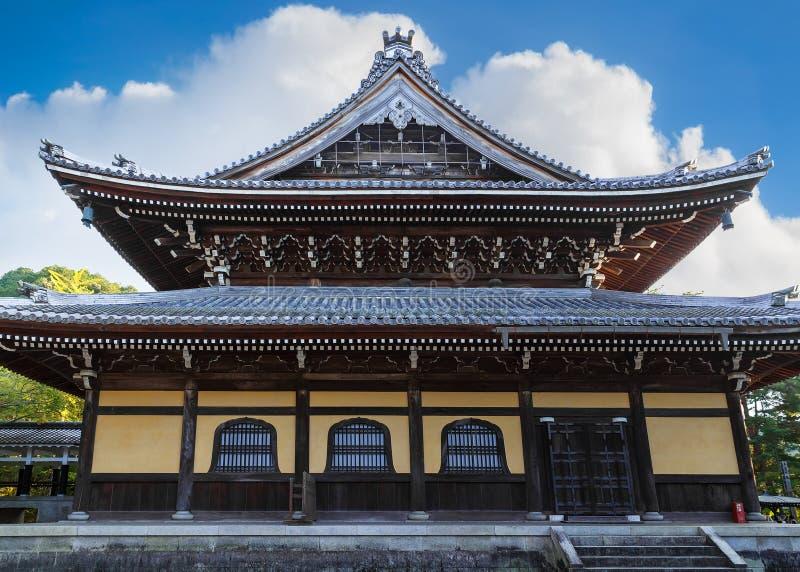 Dhamma Hall au temple de Nanzen-JI à Kyoto image libre de droits