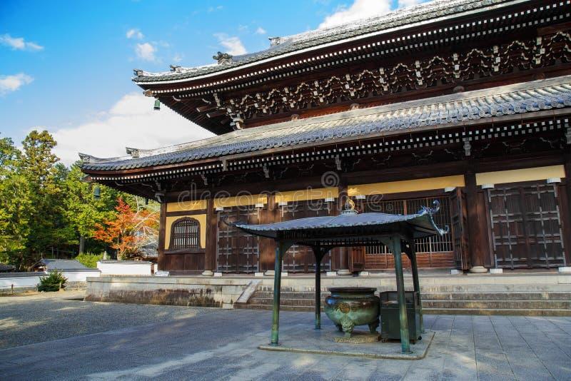 Dhamma Hall au temple de Nanzen-JI à Kyoto images libres de droits