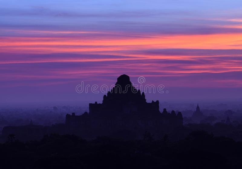 Dhammayangyi pagoda sunset view in Bagan, Mandalay division, Myanmar. Ancient Dhammayangyi pagoda sunset view in Bagan, Mandalay division, Myanmar. Dhammayangyi stock photos