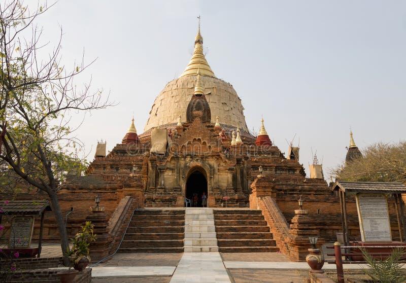 Dhammayazika Le tempie di Bagan (pagano), Mandalay, Myanmar, Birmania fotografia stock libera da diritti