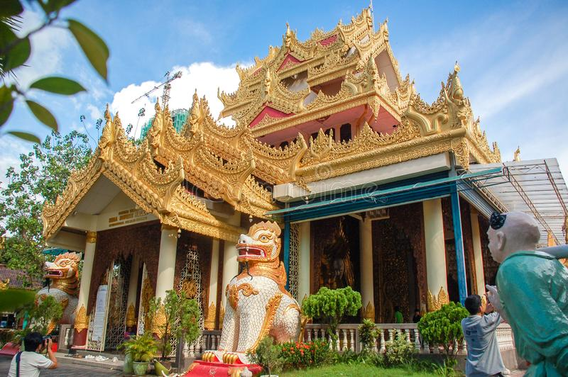 Dhammikarama Birmańska świątynia w Penang zdjęcie royalty free