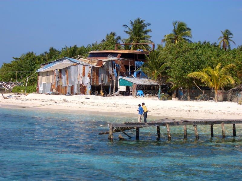 Dhangethieiland - de Maldiven royalty-vrije stock afbeeldingen