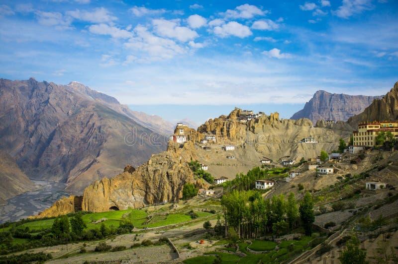 Dhankar Gompa. India. Spiti Valley royalty free stock photography