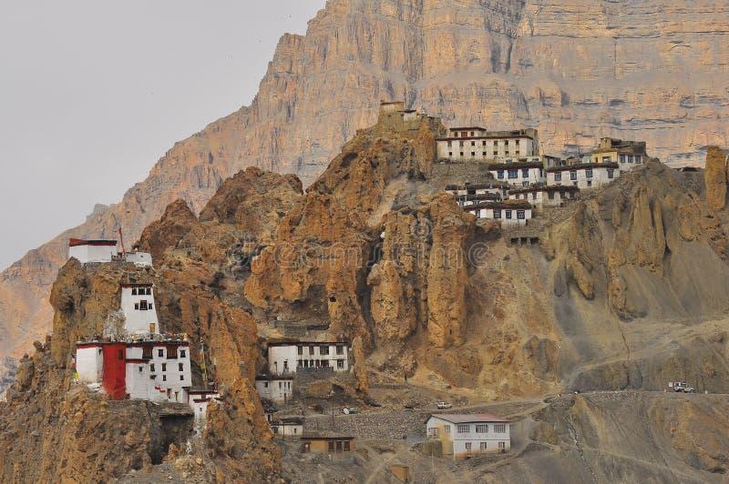 Dhankar Kloster stockfotografie