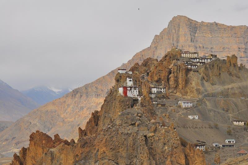 Dhankar Kloster stockbilder