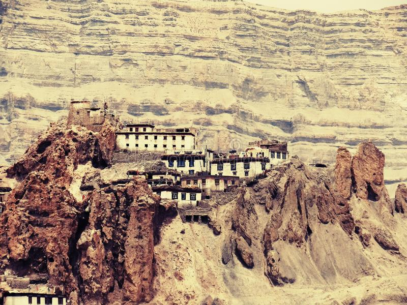 Dhankhar-Kloster #Kaza lizenzfreie stockfotografie
