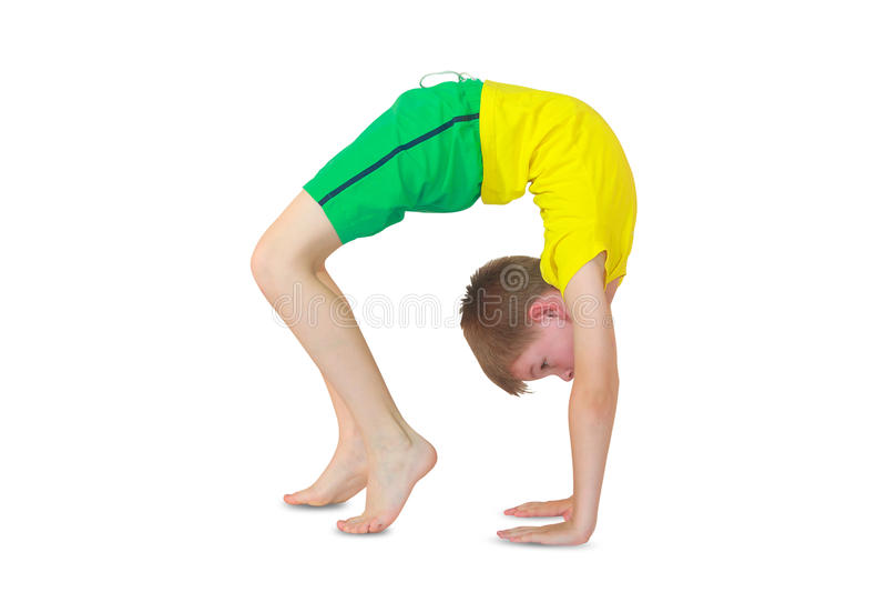 Dhanurasana瑜伽 免版税库存照片