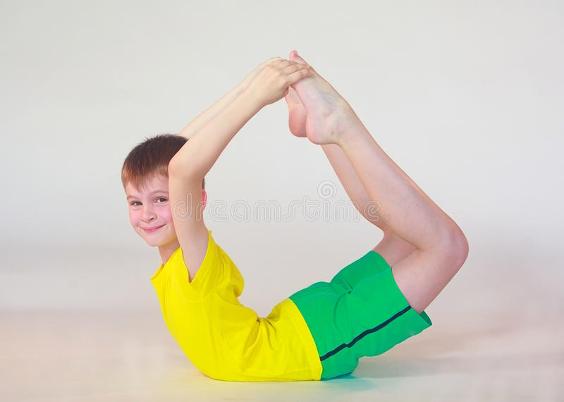 Dhanurasana joga obrazy royalty free