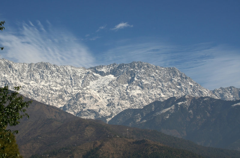 dharamsala喜马拉雅印度山脉城镇 免版税库存图片