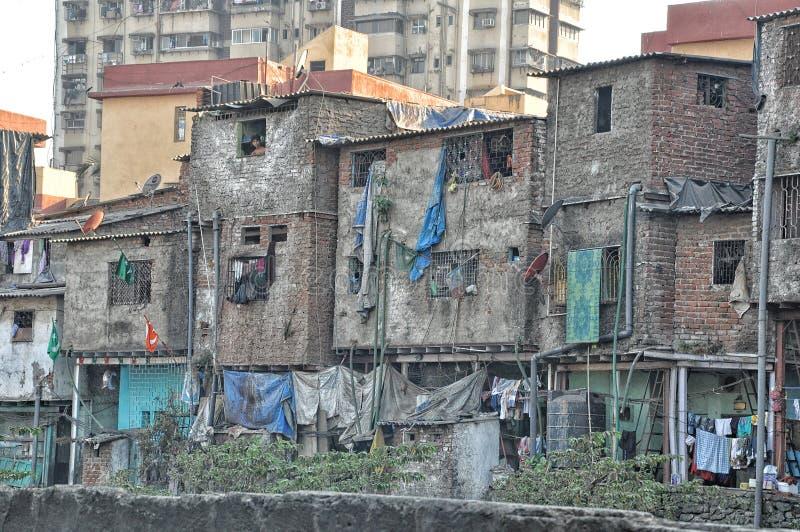 Dharavi - Krottenwijk Mumbai royalty-vrije stock afbeeldingen