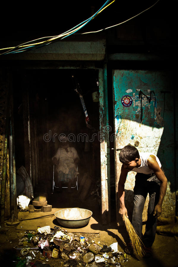 Dharavi Slums of Mumbai, India royalty free stock photography