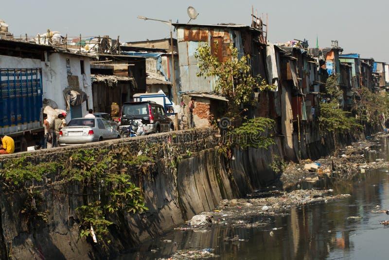 Dharavi Slums of Mumbai, India. The Dharavi Slums of Mumbai, India. With a population reaching nearly 1 million, the Dharavi slums of Mumbai are classed as one stock image