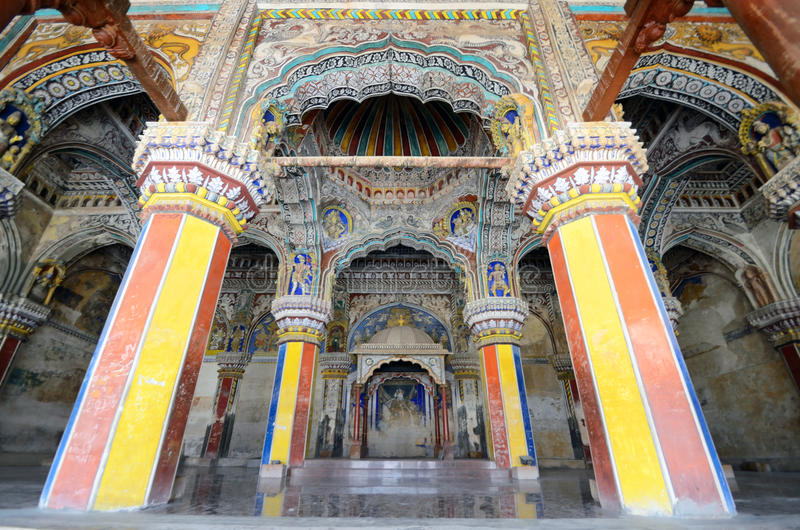 Dharbar Hall Interior arkivbild