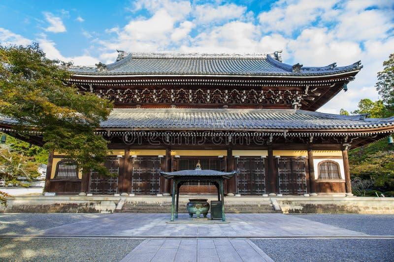 Dharma Hall (Hatto) au temple de Nanzen-JI à Kyoto image libre de droits