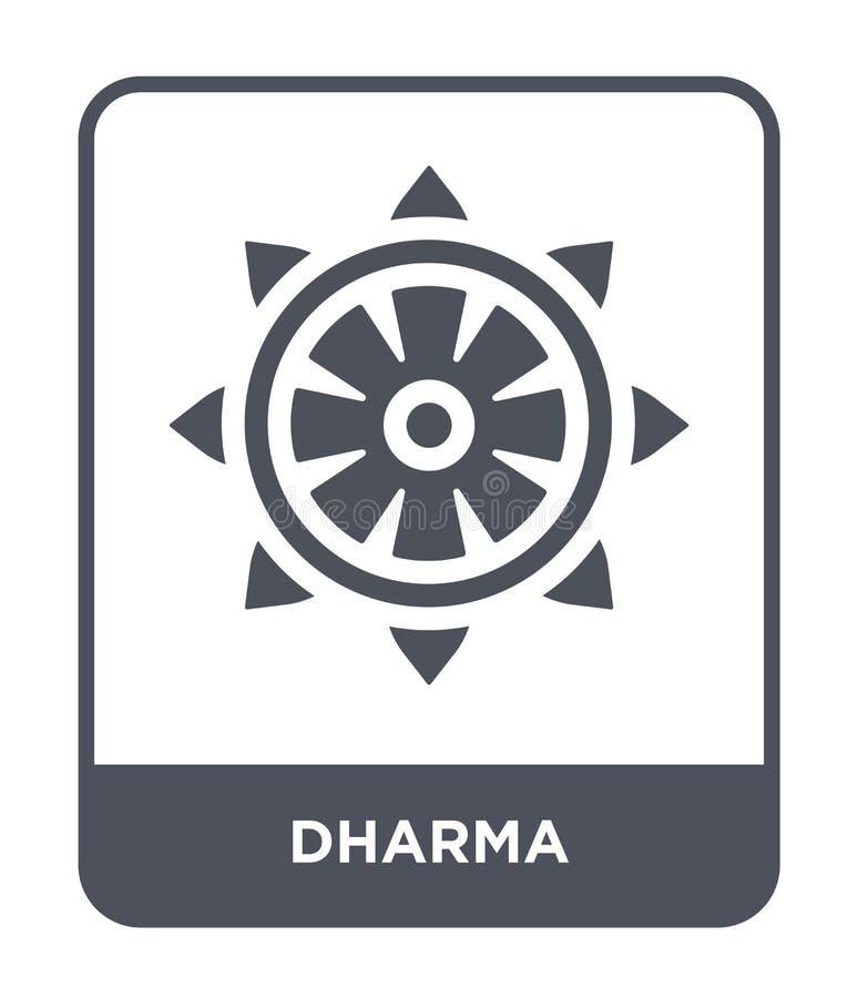 dharma ikona w modnym projekta stylu dharma ikona odizolowywająca na białym tle dharma wektorowej ikony prosty i nowożytny płaski royalty ilustracja