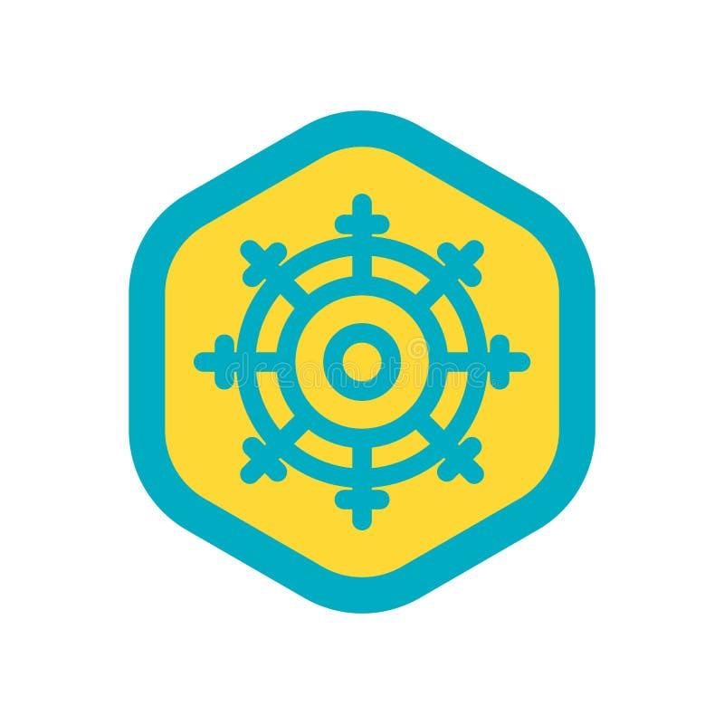 Dharma ikony wektor odizolowywający na białym tle, Dharma znak royalty ilustracja