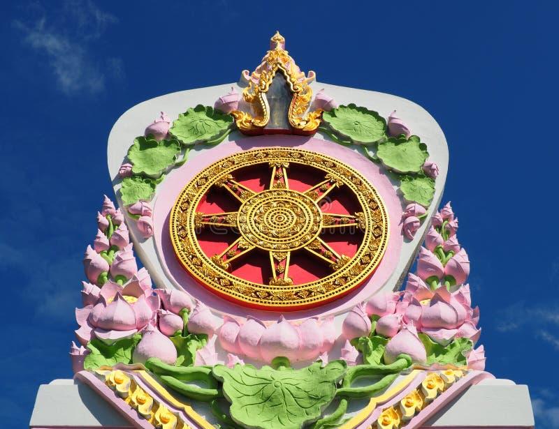 Dharma-Rad, das in blauen Himmel ansteigt lizenzfreie stockbilder