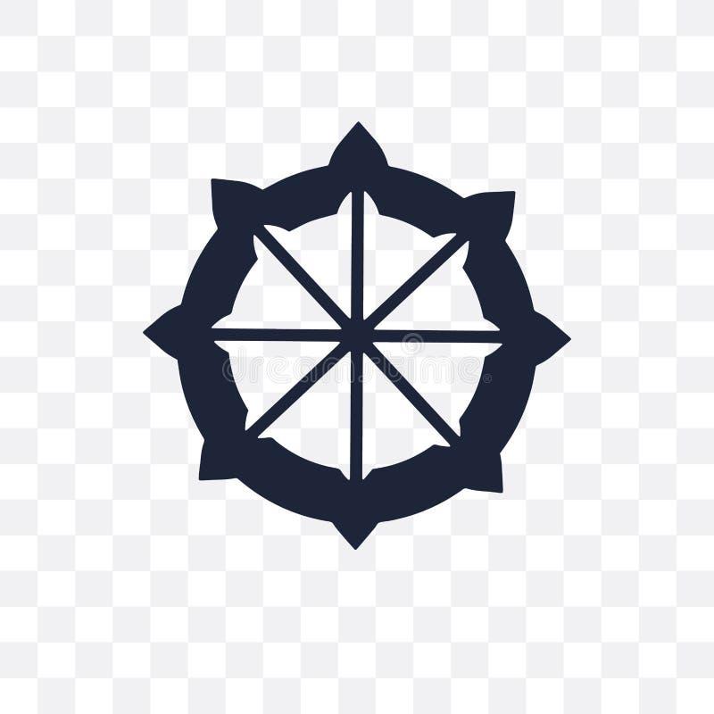 Dharma transparant pictogram Het ontwerp van het Dharmasymbool van India verzamelt vector illustratie
