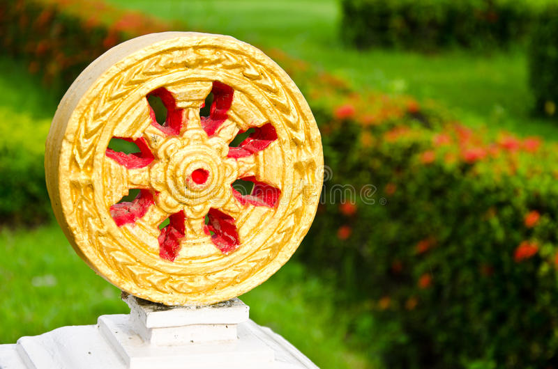 Dharma Wheel Of Buddhism Stock Images