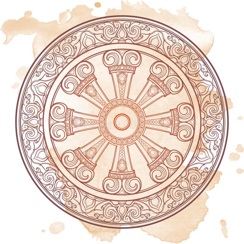 Dharma Wheel Dharmachakra Symbol Of Buddhas Teachings On The Path